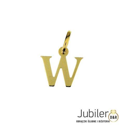 Wisiorek złoty pr.585 LITERKA  (1)