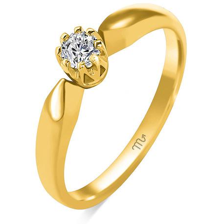 Pierścionek zaręczynowy z diamentem naturalnym  (1)