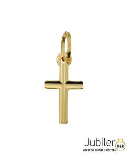 Wisiorek złoty pr.585 Krzyż  (1)