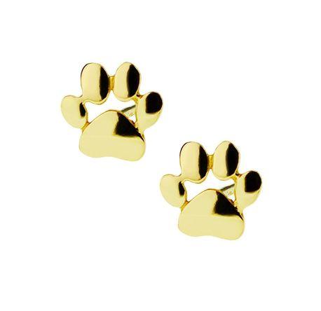 Kolczyki złote pr.585  łapki pies/kot (1)