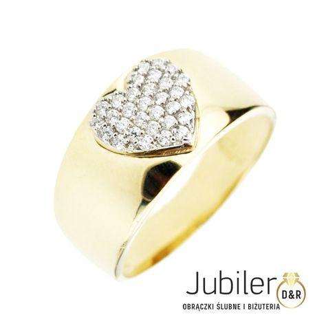 Pierścionek złoty pr.585  serce (1)
