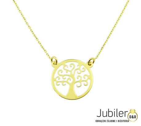 Naszyjnik złoty pr 585 drzewko szczęścia  (1)