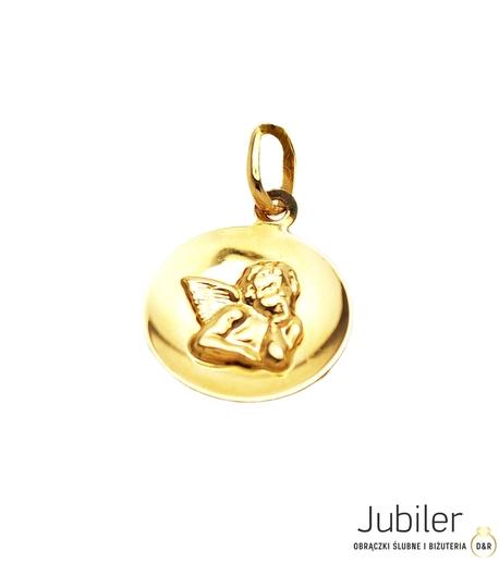 Wisiorek złoty pr.585 Anioł (1)