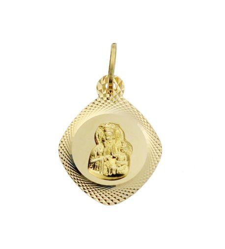 Wisiorek złoty pr.585 Matka Boska Częstochowska  (1)