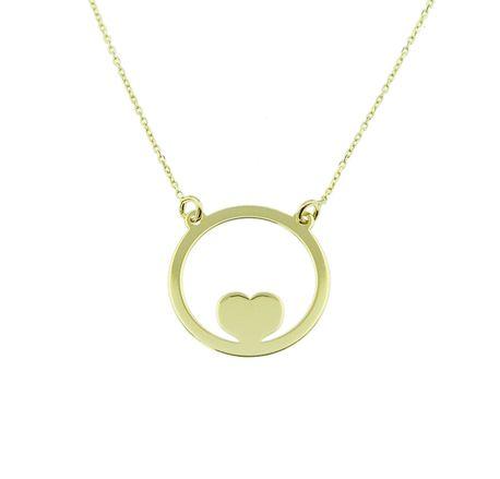 Naszyjnik złoty pr 585 serce w okręgu  (1)