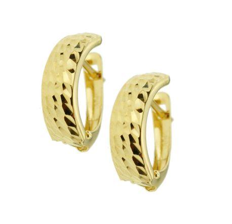 Kolczyki złote pr.585 blaszki diamentowane  (1)