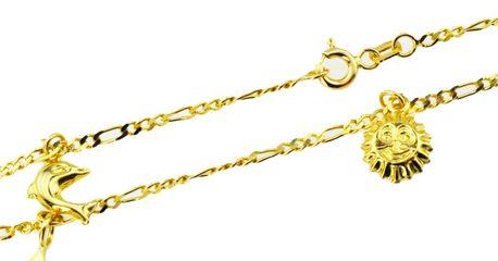 Bransoletka złota pr 585 na nogę  (1)