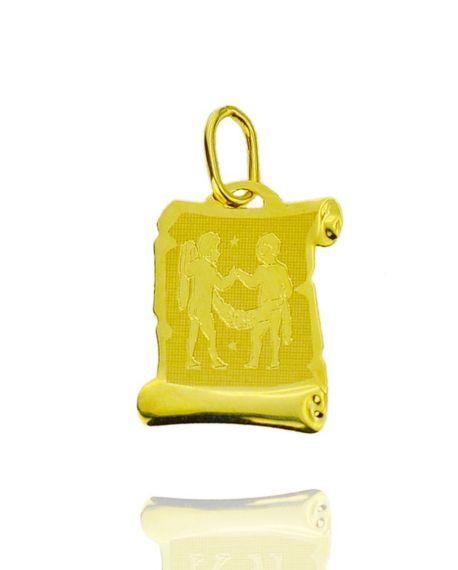 Znak zodiaku złoty próby 585 Bliźnięta  (1)