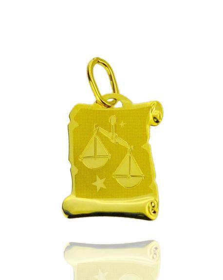 Znak zodiaku złoty próby 585 Waga (1)