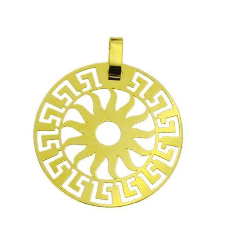 Wisiorek złoty pr.585 słońce z drogą grecką  (1)