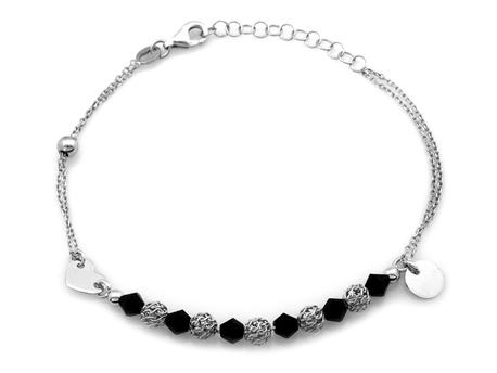 Bransoletka srebrna pr.925  elementowa  (1)