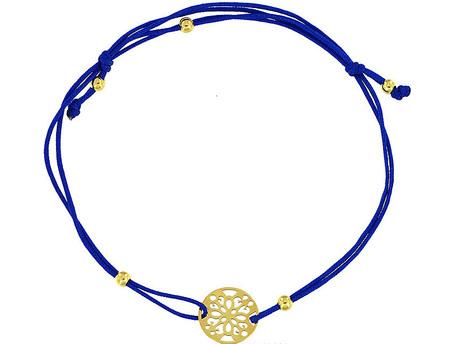 Bransoletka złota pr 585 Blaszka ażurowa Na Sznurku (1)