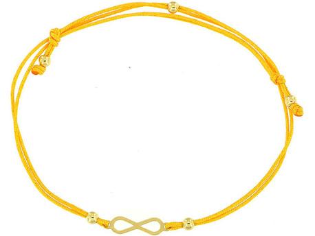 Bransoletka złota pr 585 Nieskończoność Na Sznurku (1)