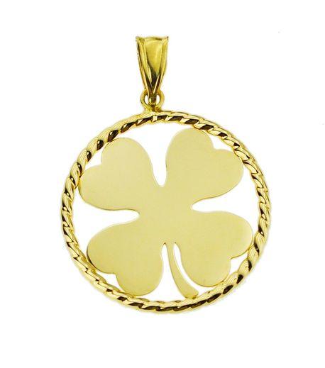 Wisiorek złoty pr.585 koniczyna  (1)