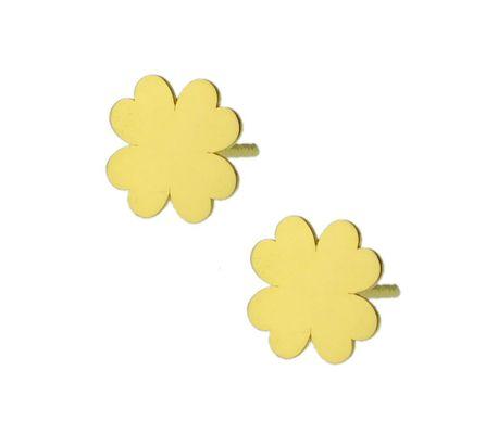 Kolczyki złote pr.585 koniczyny (1)