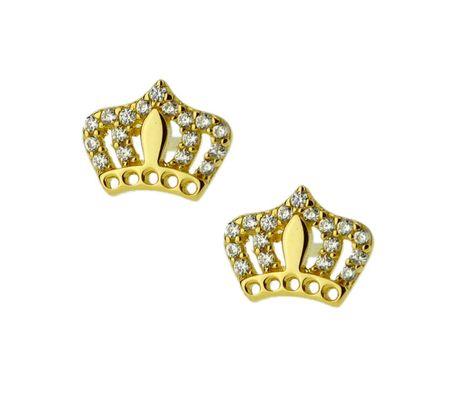Kolczyki złote pr.585 korona (1)