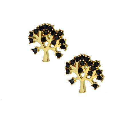Kolczyki złote pr.585 drzewka szczęścia (1)