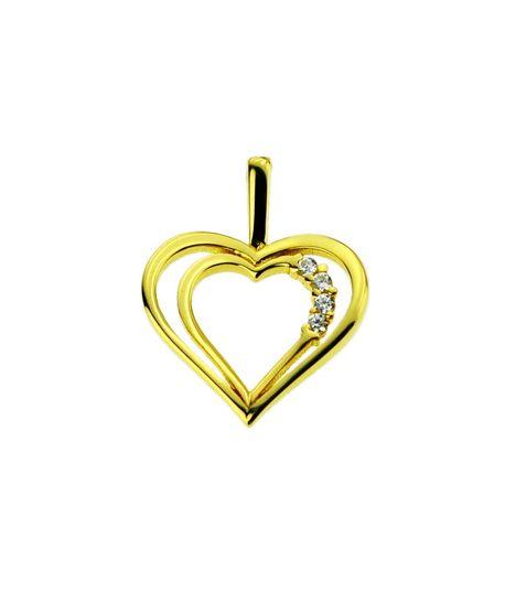 Wisiorek złoty pr.585 serce z cyrkoniami (1)