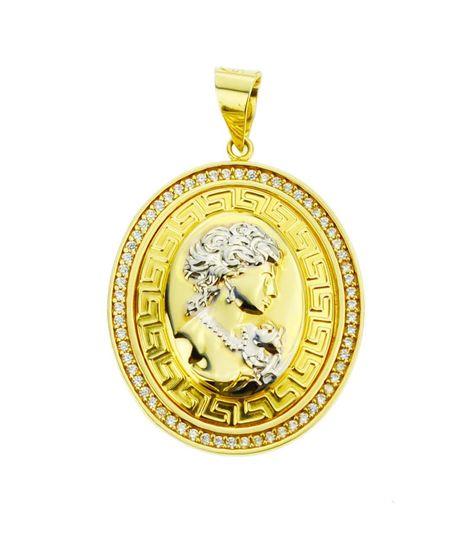 Wisiorek złoty pr.585 Kamea grecka (1)