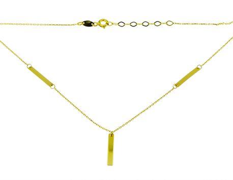 Naszyjnik złoty pr 585 blaszki (1)