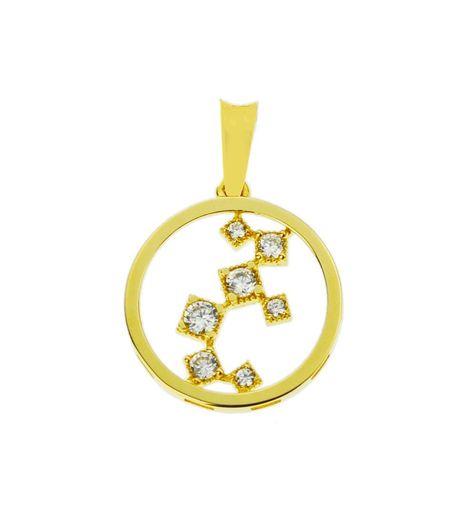 Wisiorek złoty pr.585 okrąg z cyrkoniami (1)