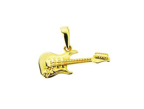 Wisiorek złoty pr.585 gitara (1)