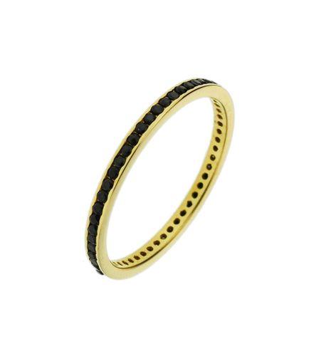 Pierścionek złoty pr.585 czarne cyrkonie (1)