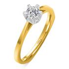 Pierścionek zaręczynowy z diamentem naturalnym  (2)