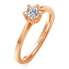 Pierścionek zaręczynowy z diamentem naturalnym  (3)