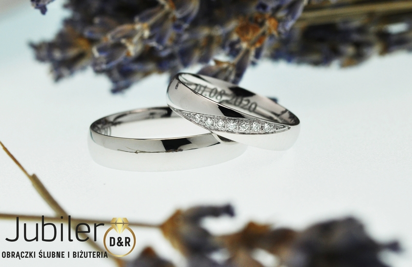 Obrączki ślubne Łódź białe złoto